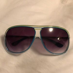 Michael Kors unisex oversized sunglasses gradient